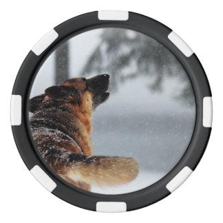 Schäferhund Poker Chips Set