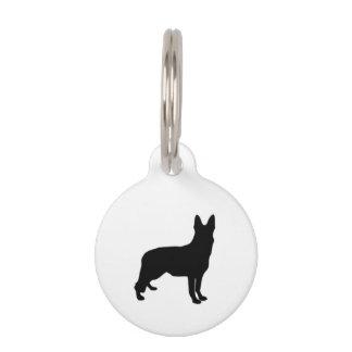 Schäferhund-Schwarz-Silhouetten auf Weiß/Farben Tiermarke