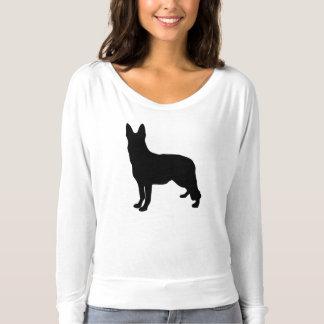 Schäferhund-Silhouette T-shirt