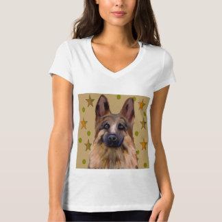 Schäferhund-Soldat-Kunst T-Shirt