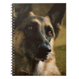 Schäferhund-Spiralen-Anmerkungs-Bücher Notizblock