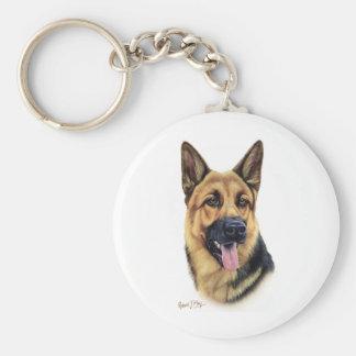 Schäferhund Standard Runder Schlüsselanhänger