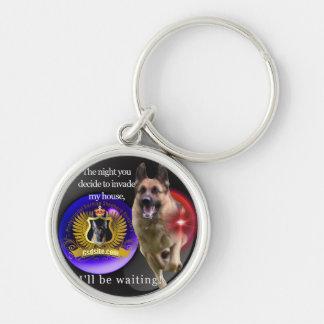 Schäferhund-Warnung Schlüsselanhänger