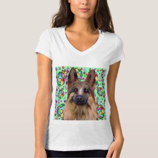 Schäferhund-Weihnachten T-Shirt