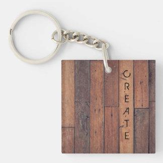 Schaffen Sie Beidseitiger Quadratischer Acryl Schlüsselanhänger