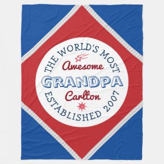 Schaffen Sie fantastischstes der Großvater-Logo Fleecedecke