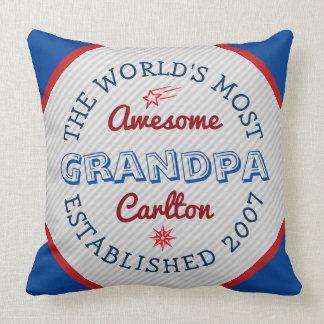 Schaffen Sie fantastischstes der Großvater-Logo Kissen