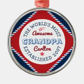 Schaffen Sie fantastischstes der Großvater-Logo Silbernes Ornament