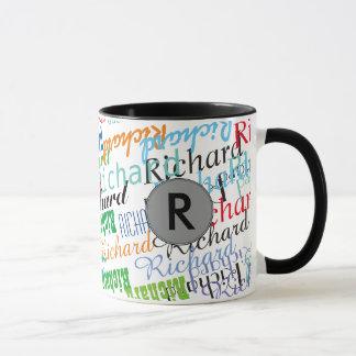schaffen Sie Ihr cooles Namensmusterschwarzes Tasse