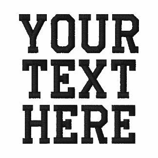 Schaffen Sie Ihr eigenes gesticktes Text-Polo Polohemd