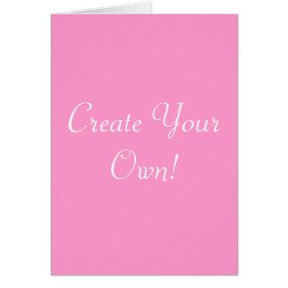 Schaffen Sie Ihr eigenes Rosa und Weiß Grußkarte