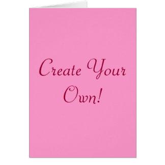 Schaffen Sie Ihr eigenes Rosa und Weiß I Grußkarte