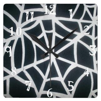 Schaffen Sie Ihr eigenes schönes reizendes weißes Quadratische Wanduhr
