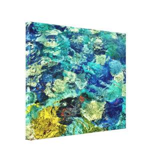 Schaffen Sie Ihre eigene abstrakte Kunst 14 x 11 Leinwanddruck