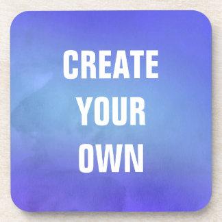 Schaffen Sie Ihre eigene blaue Aquarell-Malerei Getränkeuntersetzer