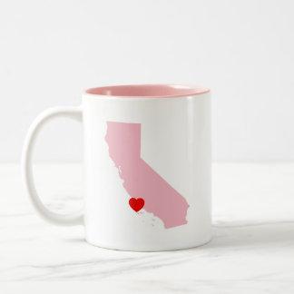 Schaffen Sie Ihre eigene Farbkalifornien-Hochzeit Zweifarbige Tasse