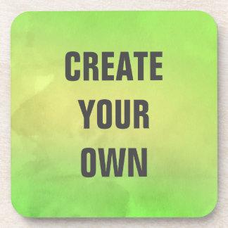 Schaffen Sie Ihre eigene moderne grüne Untersetzer