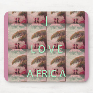 Schaffen Sie Ihre eigene schöne i-Liebe Afrika Mauspads