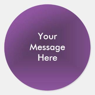 Schaffen Sie Ihre Mitteilung Runder Aufkleber