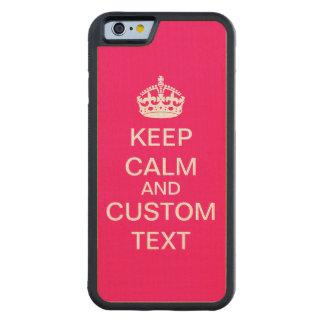 Schaffen Sie Ihre Selbst behalten Ruhe und Bumper iPhone 6 Hülle Ahorn