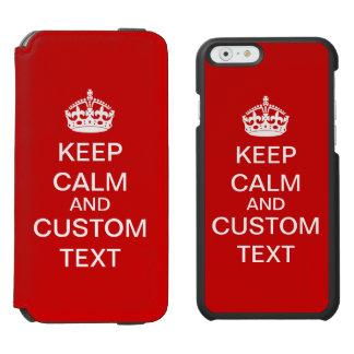 Schaffen Sie Ihre Selbst behalten Ruhe und Incipio Watson™ iPhone 6 Geldbörsen Hülle