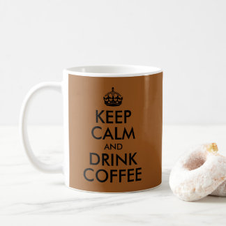 Schaffen Sie Ihre Selbst behalten Ruhe und trinken Kaffeetasse
