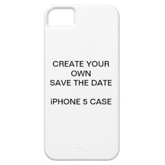 SCHAFFEN Sie IHRE SELBST SAVE THE DATE iPHONE 5 Barely There iPhone 5 Hülle