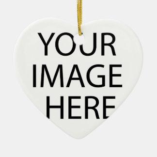 Schaffen Sie Ihren eigenen Entwurf u. Text Keramik Herz-Ornament
