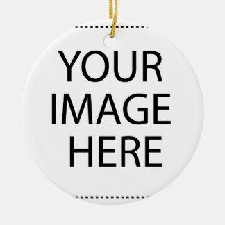 Schaffen Sie Ihren eigenen Entwurf u. Text Rundes Keramik Ornament