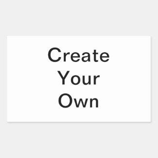Schaffen Sie Ihren eigenen Rechteck-Aufkleber