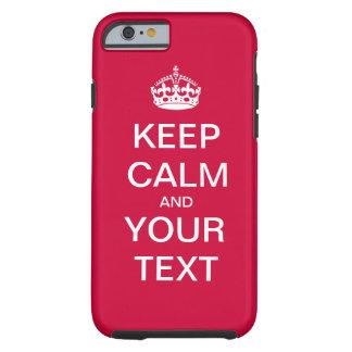 Schaffen Sie Ihren kundenspezifischen Text Tough iPhone 6 Hülle