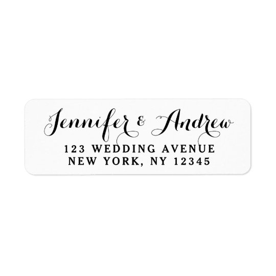 Schaffen Sie kundenspezifische elegante Hochzeit Kleiner Adressaufkleber