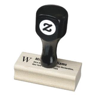 Schaffen Sie kundenspezifisches Monogramm-moderne Gummistempel