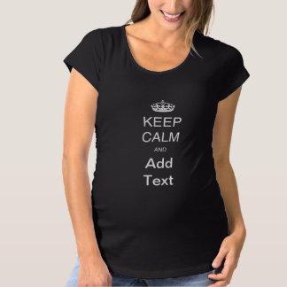 Schaffen Sie Selbst behalten ruhiges Schwangerschafts T-Shirt
