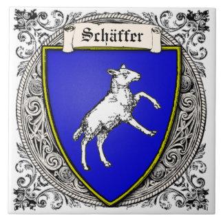 Schäffer (V. Peterzell) Familie bewaffnet Keramikfliese