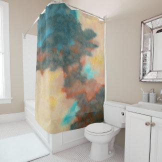 Schaffung, abstrakter duschvorhang