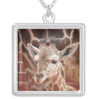 Schaftmaschinen-Baby-Giraffen-Halskette Versilberte Kette