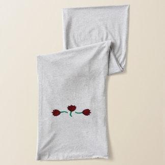 Schal mit drei roter Blumen