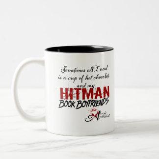 Schale heiße Schokoladen-u. Hitman-Buch-Freunde Zweifarbige Tasse