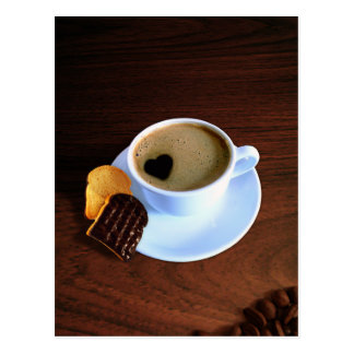 Schale Herz-Kaffee - Postkarte