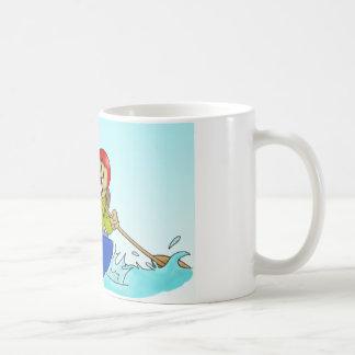 Schale: Pfadfinderbiber auf einem Kanu Kaffeetasse