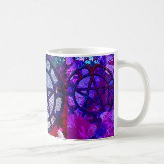 Schale von drei Pentagrammen Kaffeetasse