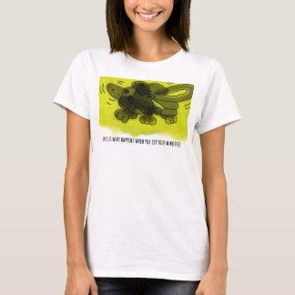 Schalter - dieses ist, was geschieht, wenn Sie T-Shirt