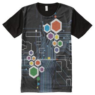 Schaltkreis T-Shirt Mit Bedruckbarer Vorderseite