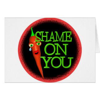 Schande auf Ihnen Pfeffer-Spray Grußkarte