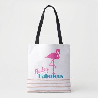 Scharen der fabelhaften Typografie mit rosa Tasche