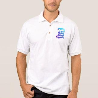 Scharfe blaue Drache-Shirts Polo Shirt