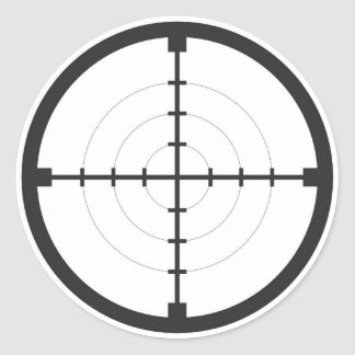 Scharfschützesucherzielsymbolwaffen-Gewehrarmee Runder Aufkleber