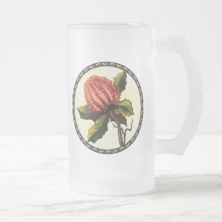 Scharlachrot Banksia- Mattglas Bierglas