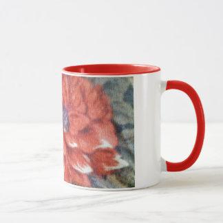 Scharlachrot Blüten- Tasse